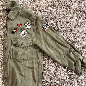 Button Down Shirt with Patches